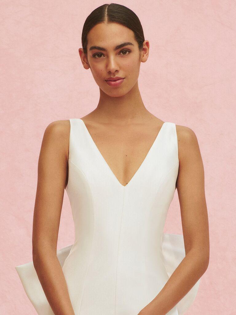 Carolina Herrera Marcella V-neck wedding dress