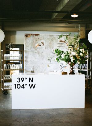 Custom Bar with Personalized Coordinates and Map Backdrop
