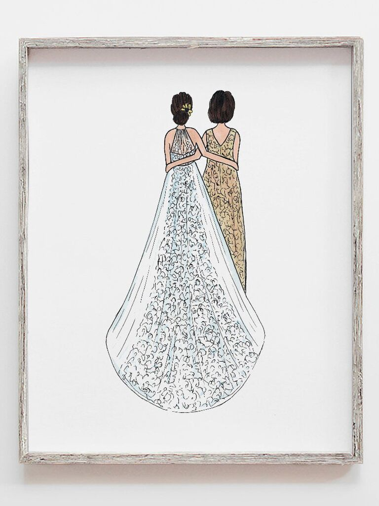 Custom illustration gift for mother-in-law