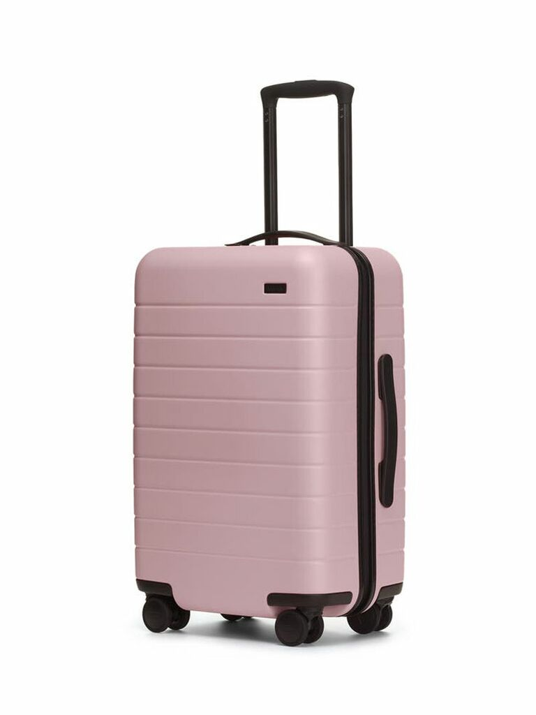 pink carry on suitcase