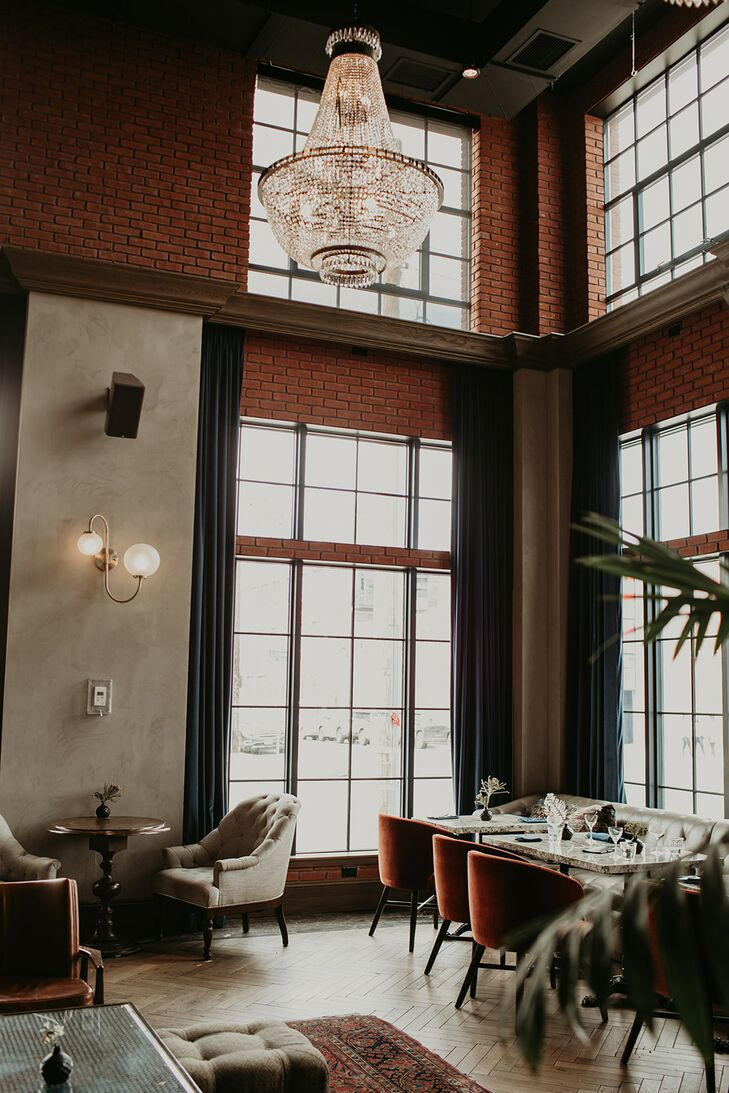 Elegant and Industrial Reception at The Ramble Hotel in Denver, Colorado