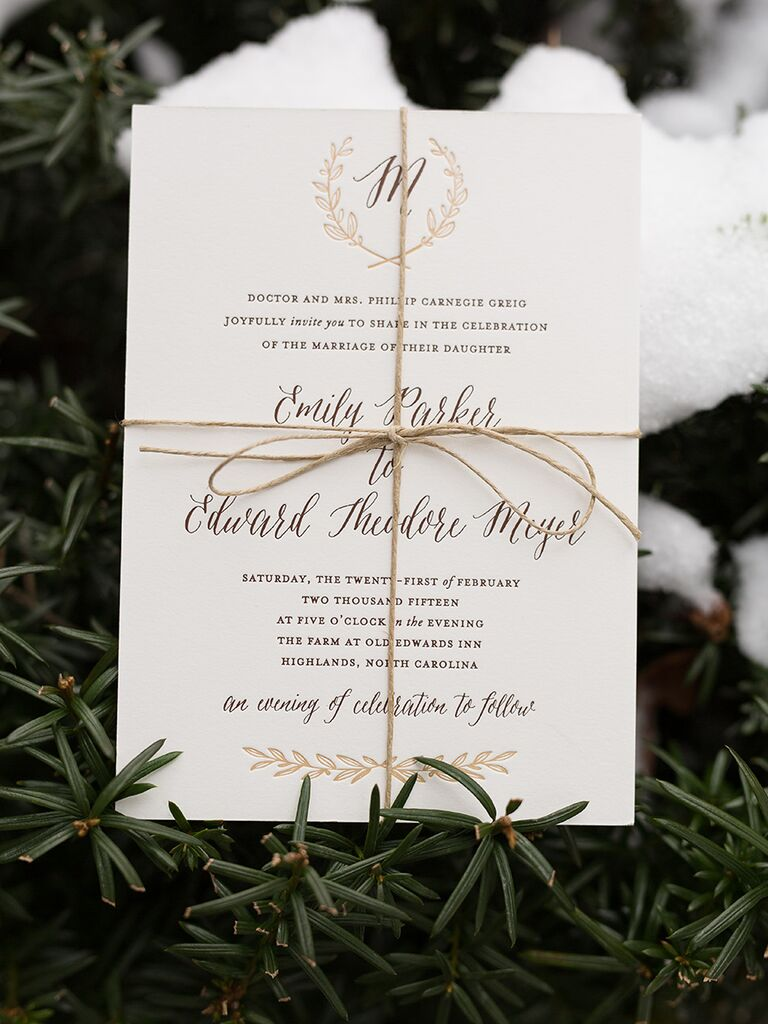 Personalized Gold And Bronze Wedding Invitations Rustic
