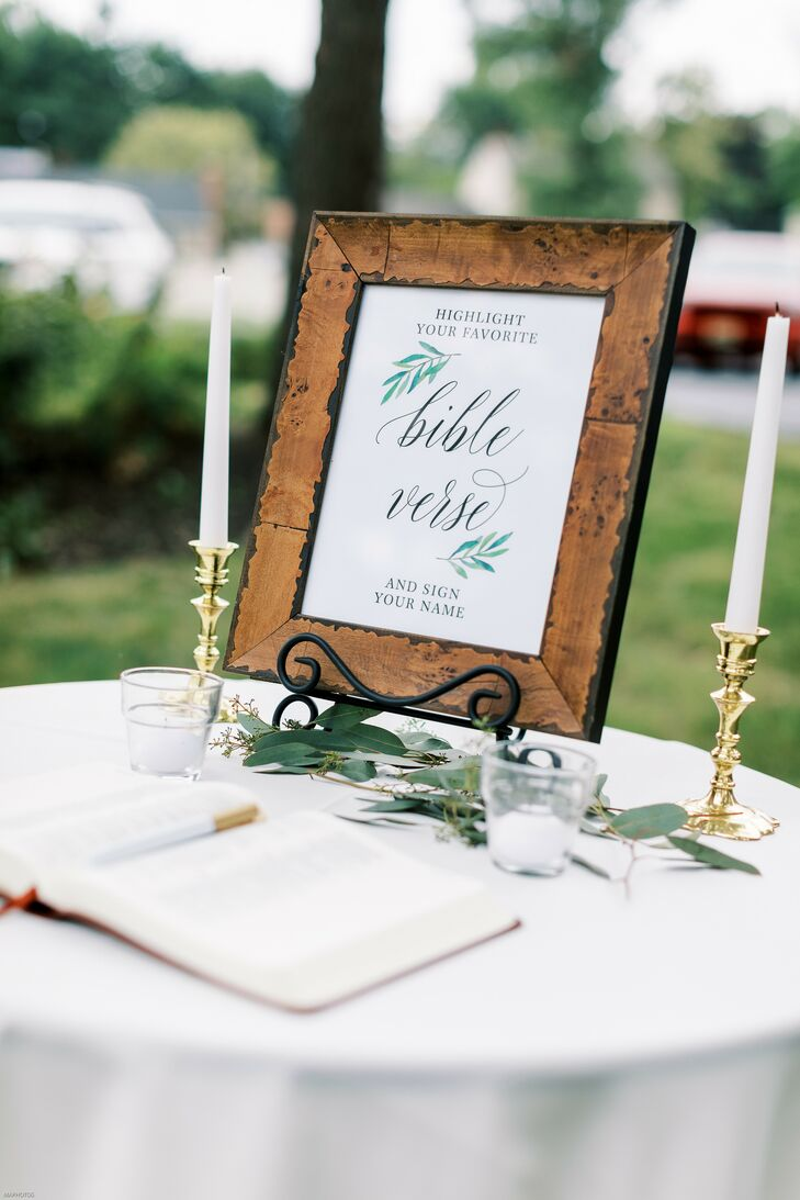 Bible Guest Book at Wedding in Cherry Hill, New Jersey