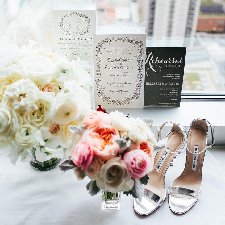 Silver Manolo Blahnik Heels