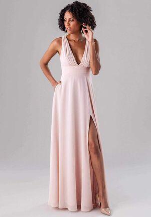 Kennedy Blue Rose V-Neck Bridesmaid Dress