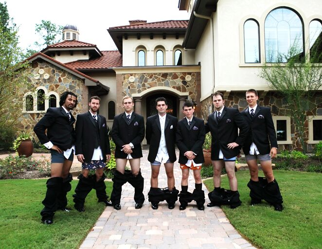 Groomsmen no pants photo