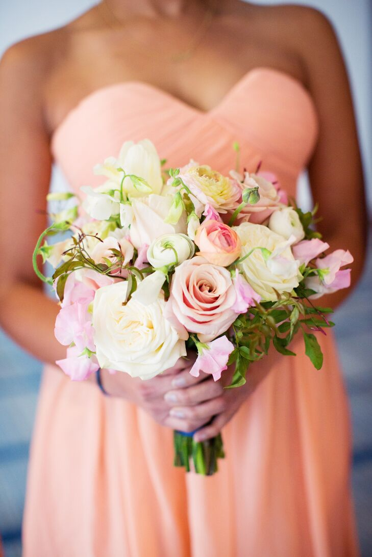 Rose and Ranunculus Pastel-Colored Bouquet