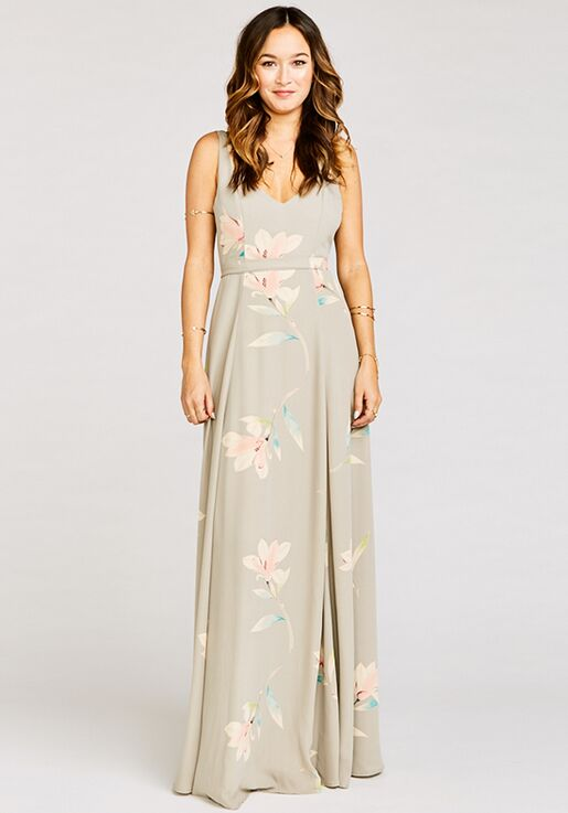 137b8ba11d89 Show Me Your Mumu Jenn Maxi Dress - Lily Showers V-Neck Bridesmaid Dress