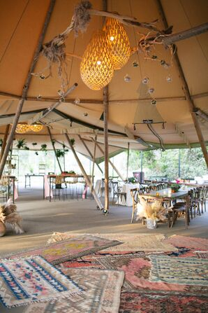 Bohemian Tented Reception in Driftwood, Texas