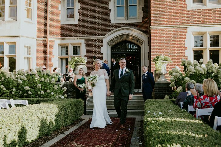 Bride, Groom and Modern Recessional at Private Estate in Michigan