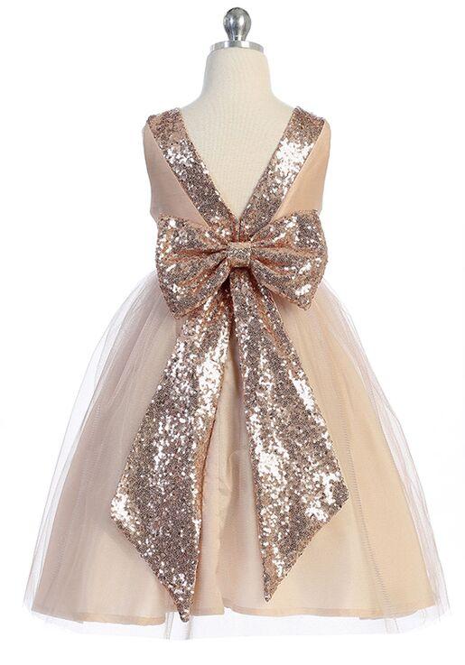 Rose Gold Flower Girl Dress Blush Rose Gold Special Occasion Girls Dress Blush Toddler Tutu Dress,Rose Gold Sequin Girls Party Dress