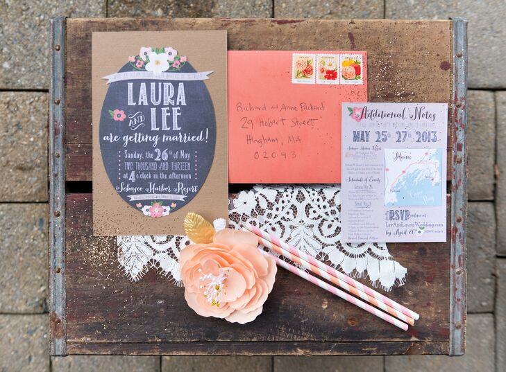 Laura custom designed all of the colorful invitations herself.