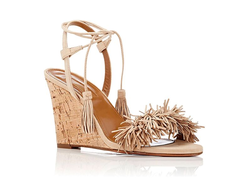 7a4af7742573 Aquazzura Wild Thing nude wedding wedges