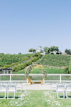 Ceremony Space for Wedding at Leal Vineyards in Hollister,  California