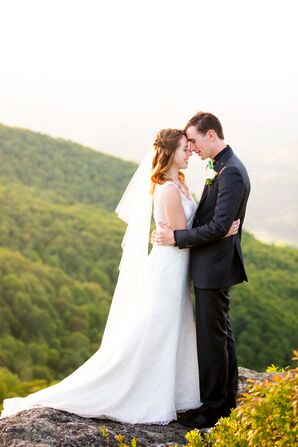 Wedding Overlooking the Blue Ridge Mountains at The Twickenham Estate