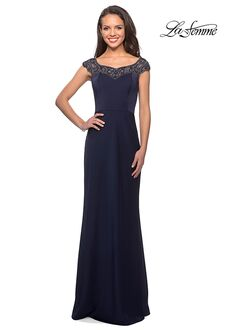 La Femme Evening 25399 Blue Mother Of The Bride Dress