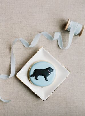 Blue Frosted Sugar Cookies with Dog Motif