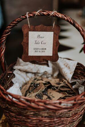 Wedding Favors in Wicker Basket
