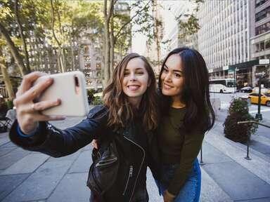 two women taking selfie in nyc