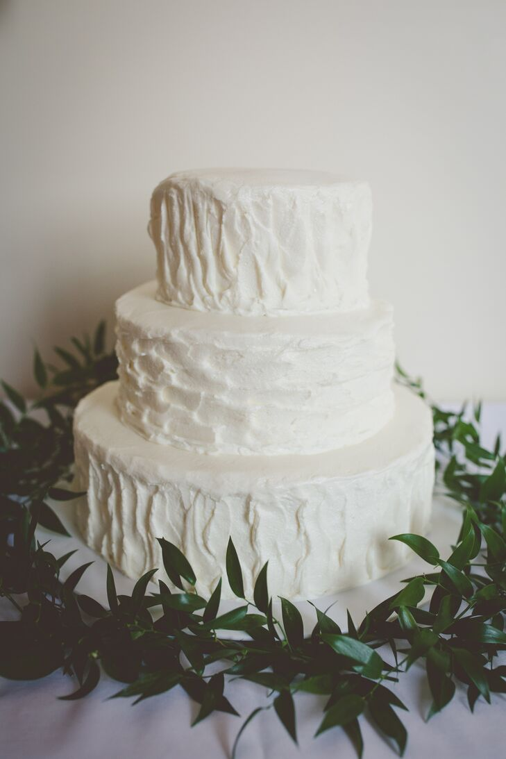 Grandma Tillie's bakery in Sitka, Alaska, crafted the three-tier confetti cake with minimal decoration.