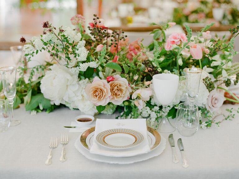 bohemian organic floral centerpiece