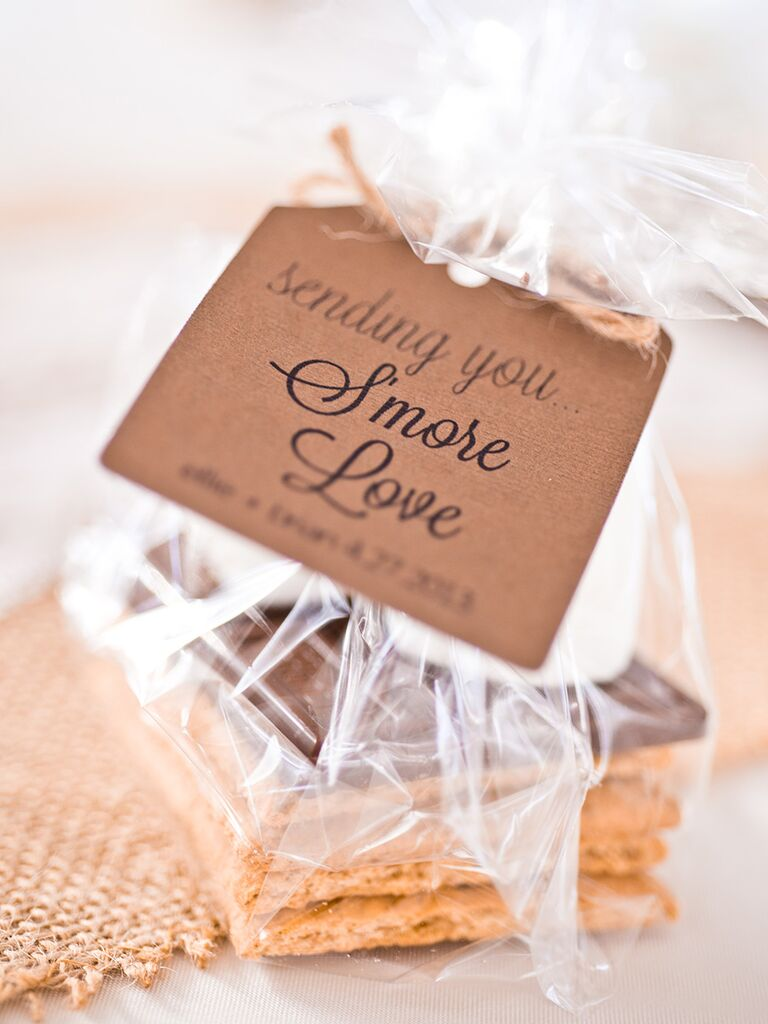 S'mores as winter wedding favors