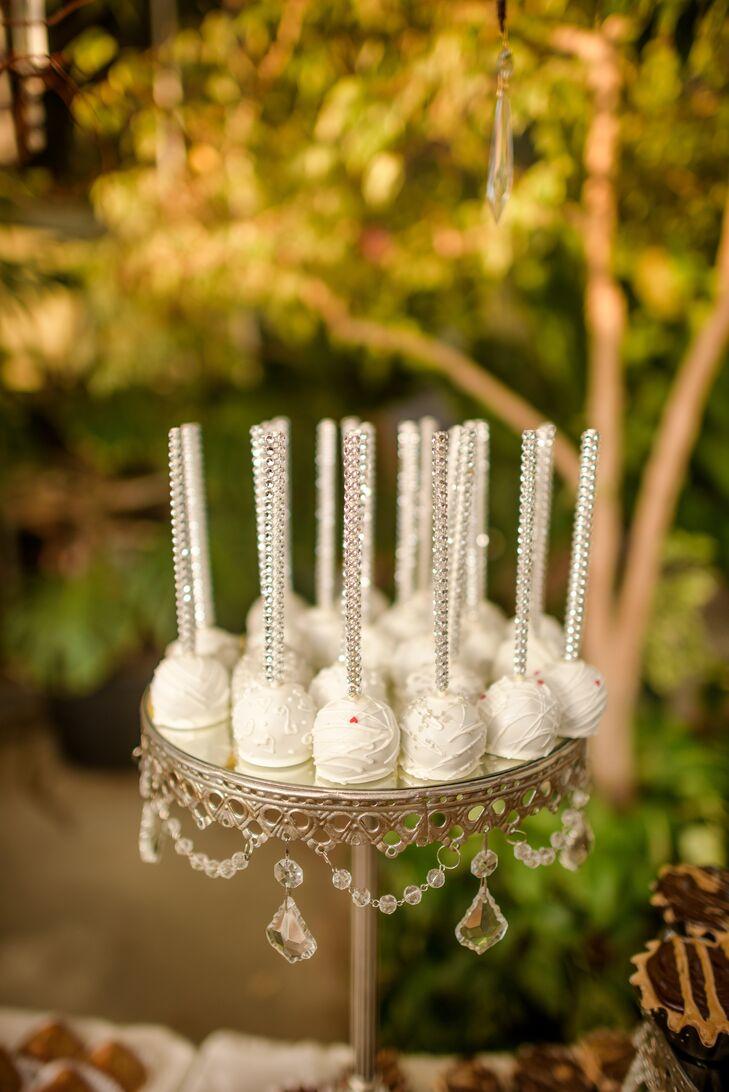 Glam Crystal-Embellished Cake Balls
