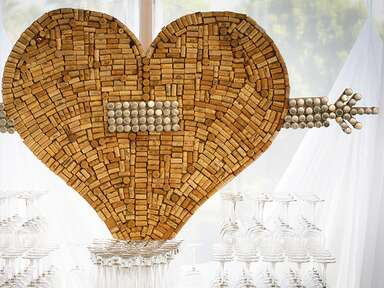 Wedding decor with wine corks: Michael Segal Photography / TheKnot.com