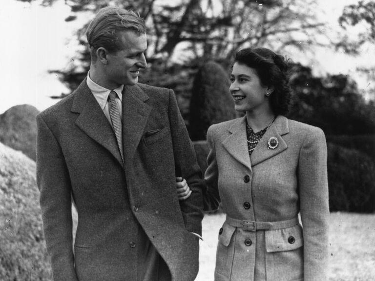 Photo of Queen Elizabeth and Prince Phillip on honeymoon