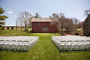 The Farm at Eagles Ridge Rustic Outdoor Ceremony