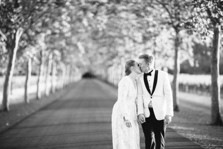 Wedding Portraits at Beaulieu Garden in Napa Valley, California