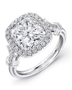 Uneek Fine Jewelry Vintage Cushion Cut Engagement Ring