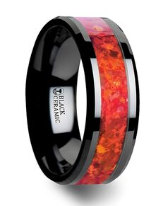 Mens Tungsten Wedding Bands C3128-BCRO Tungsten Wedding Ring