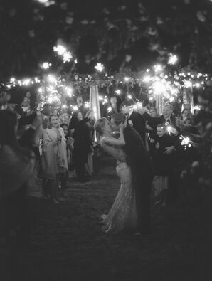 Sparkler Grand Exit at San Diego Beach Reception