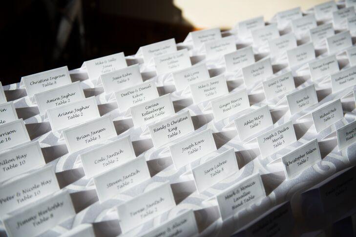 Simple, Classic Black-and-White Escort Cards