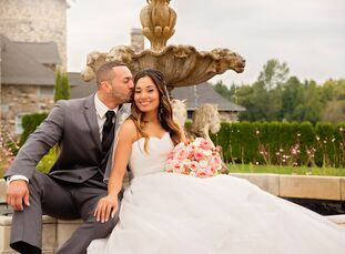 Desiree Kapp (28 and a nursing student) and Matthew Trevino (24 and an instrumentation and controls technician) held a classic, romantic wedding, with