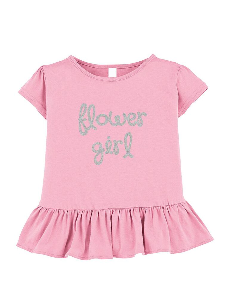 Flower girl ruffle shirt gift