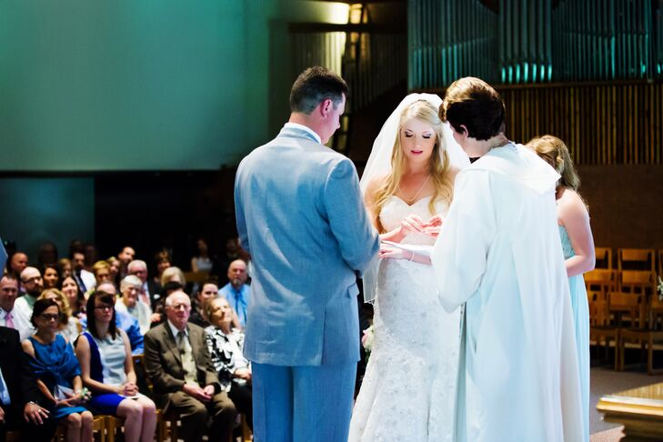 """Born and raised in Sudbury, Ontario, Jillian and Jordan knew there would be no better place to say their """"I dos"""" than in their hometown. The day started with a traditional ceremony at St. Andrew's United Church, which Jordan's grandmother attends weekly; it was also where his own parents exchanged vows."""