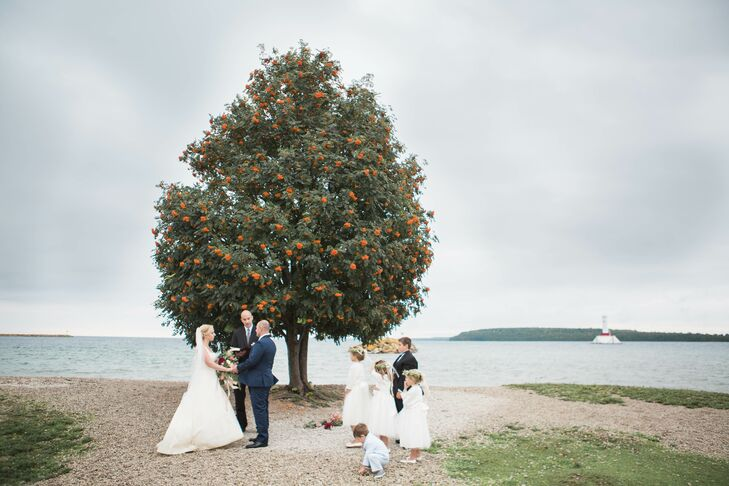 Intimate Waterfront Ceremony in Michigan