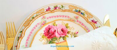 Royal Table Settings - Vintage Party Rentals
