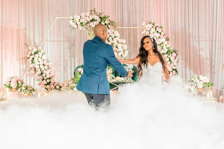 First Dance with Smoke Machine at The River View at Occoquan in Lorton, Virginia