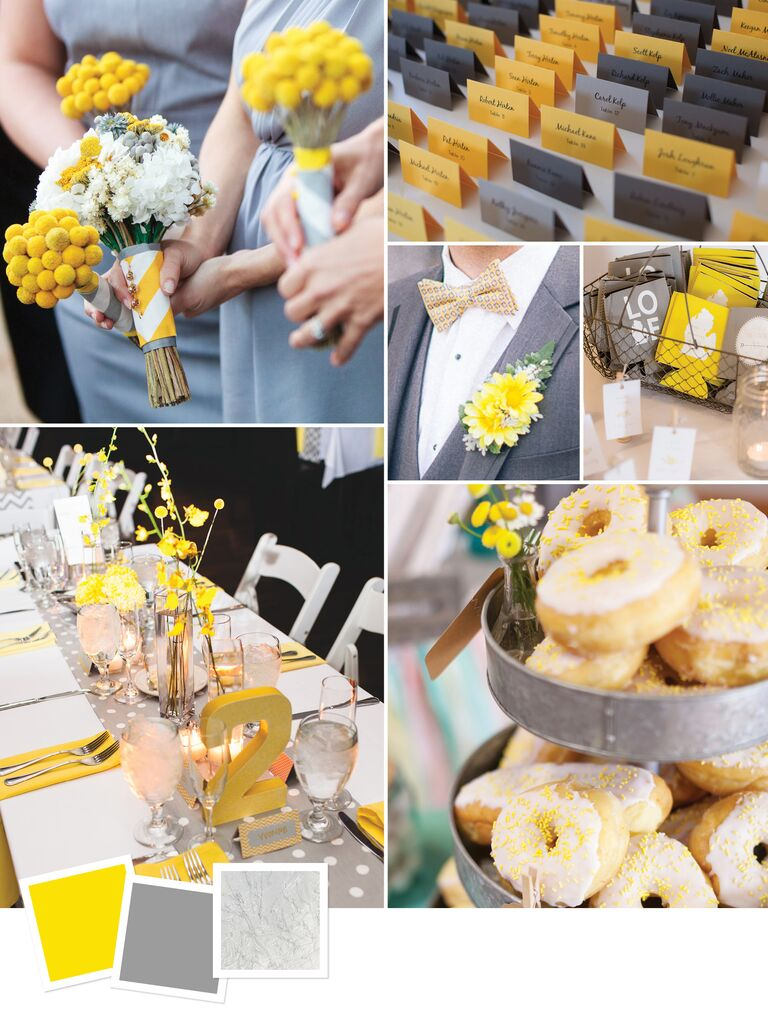 15 wedding color combos youve never seen yellow gray silver modern gray wedding decor junglespirit Image collections