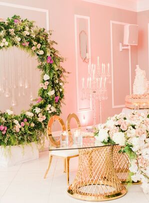 Luxurious Sweetheart Table at The Bellevue Conference & Event Center in Chantilly, Virginia