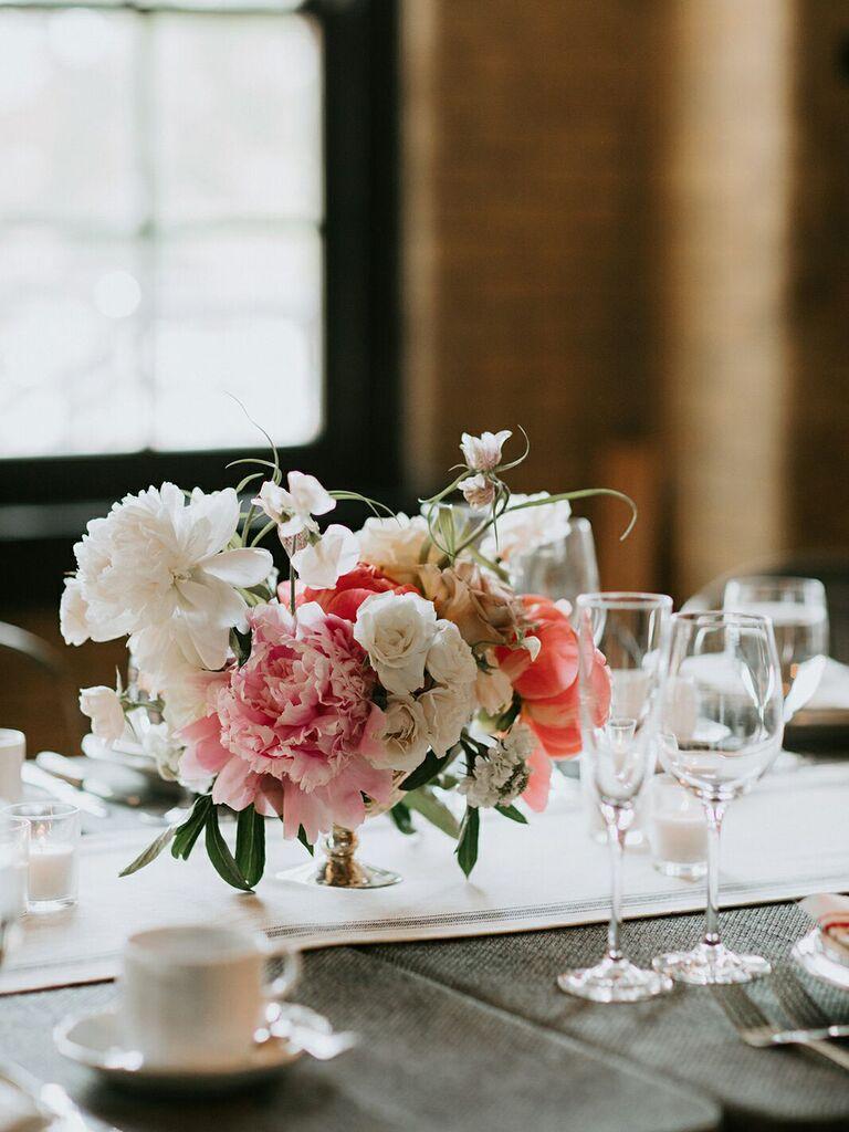 spring wedding centerpieces peonies