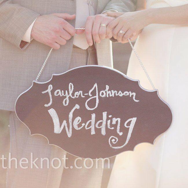 Hanging Wedding Sign