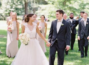 Laura Strobel and Brett Farris's classic summer wedding was filled with pops of playful pink that perfectly captured the vibrancy of the season. The f