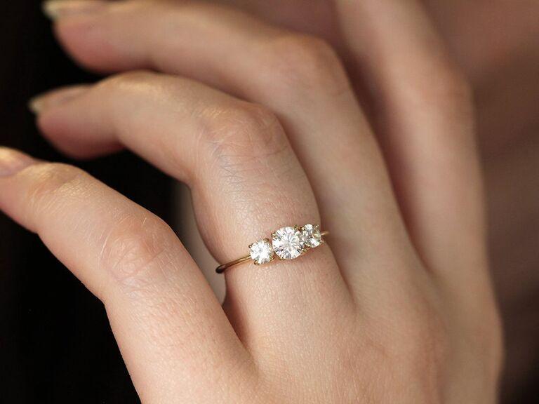 Moissanite alternative engagement ring