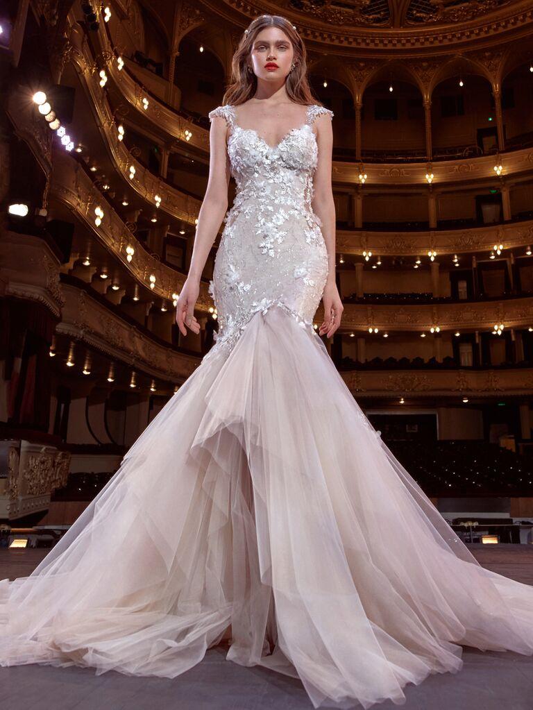 Galia Lahav Spring 2020 Bridal Collection fit-and-flare wedding dress