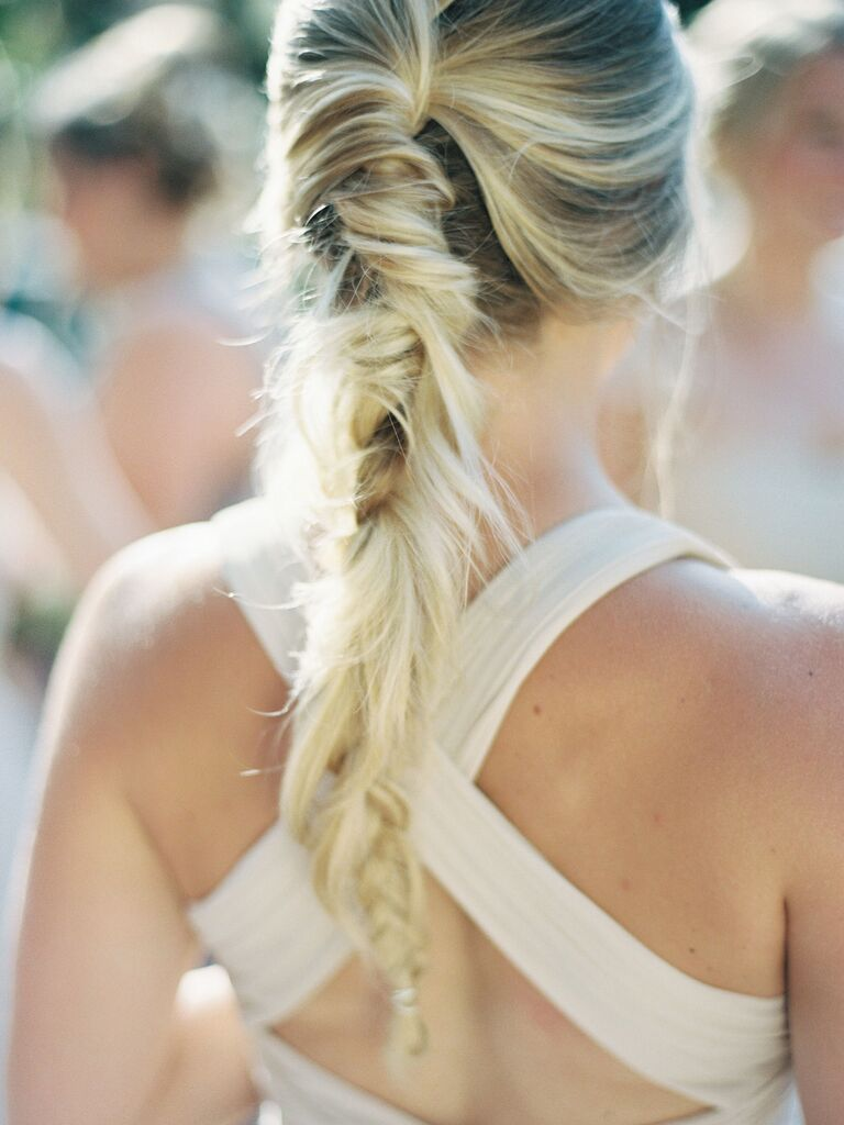 wedding braid hairstyles fishtail braid