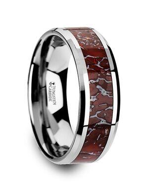 Mens Tungsten Wedding Bands C3756-TCDB Tungsten Wedding Ring